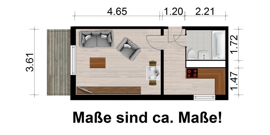 Vorschaubild für Wohnung:  Straße des Friedens 3 (Hoyerswerda) 1