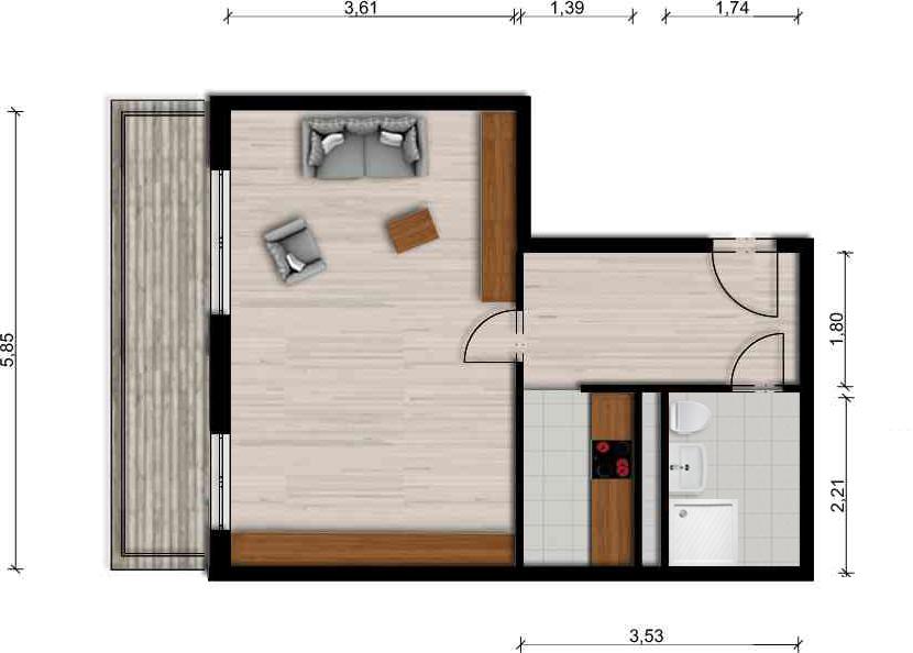 Vorschaubild für Wohnung:  Straße des Friedens 6 (Hoyerswerda) 1