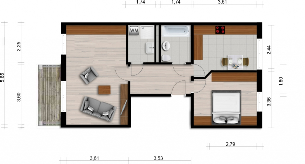 Vorschaubild für Wohnung:  Ferdinand-von-Schill-Str. 6 (Hoyerswerda) 1