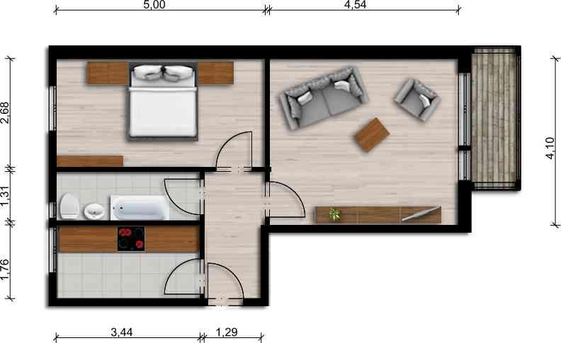 Vorschaubild für Wohnung:  Ziolkowskistr. 17 (Hoyerswerda) 1