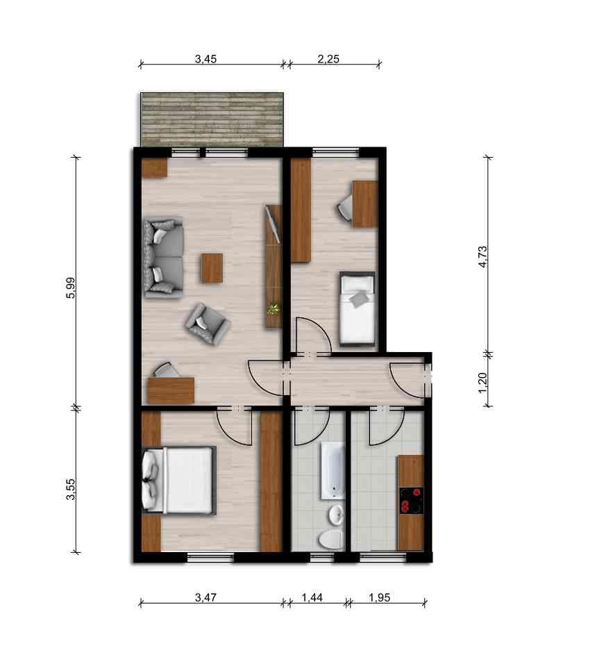 Vorschaubild für Wohnung:  Einstein-Str. 52 (Lauta) 1