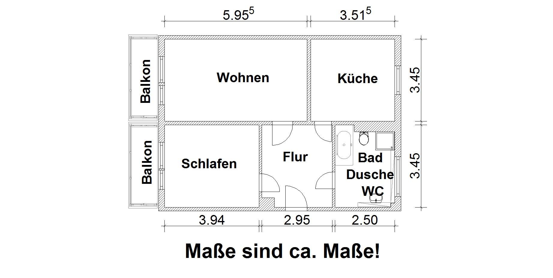 Vorschaubild für Wohnung:  Einstein-Str. 44 (Lauta) 1