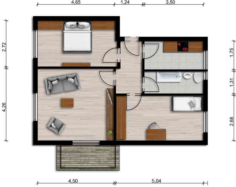 Vorschaubild für Wohnung:  Claus-v.-Stauffenberg-Str. 6 (Hoyerswerda) 1