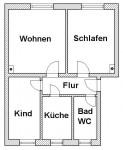 Vorschaubild für Wohnung:  Bachstr. 17 (Lauta) 1