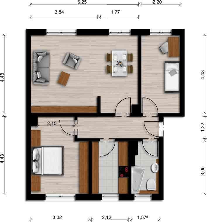 Vorschaubild für Wohnung:  Bachstr. 23 (Lauta) 1