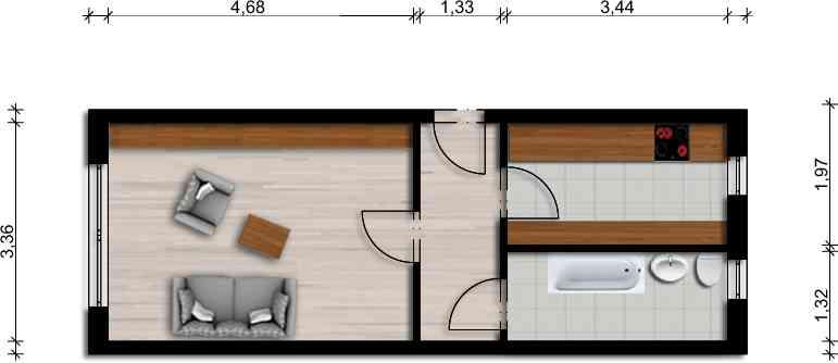 Vorschaubild für Wohnung:  Am See 16 (Lohsa) 1