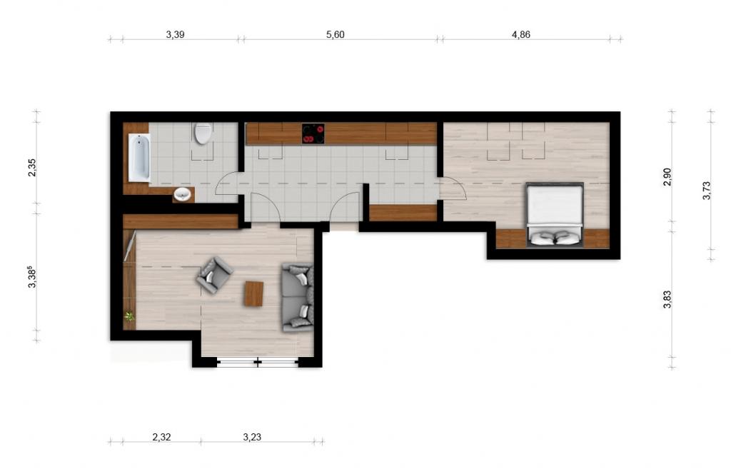 Vorschaubild für Wohnung:  Röntgenstr. 48 (Hoyerswerda) 1