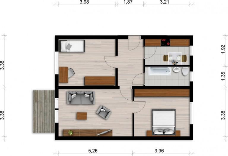 Vorschaubild für Wohnung:  Bautzener Allee 26 (Hoyerswerda) 1