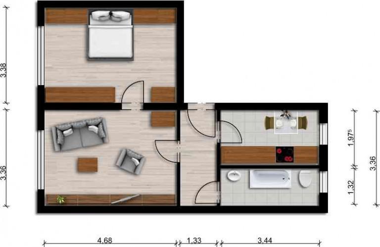 Vorschaubild für Wohnung:  Teichstr. 8 (Laubusch) 1