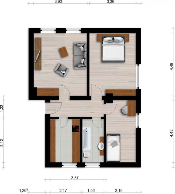 Vorschaubild für Wohnung:  Siedlung 20 (Spreetal/OT Burgneudorf) 1