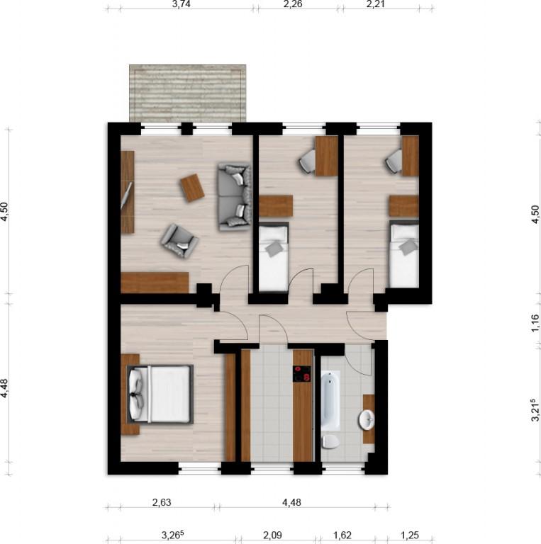 Vorschaubild für Wohnung:  Siedlung 14 (Spreetal/OT Burgneudorf) 1