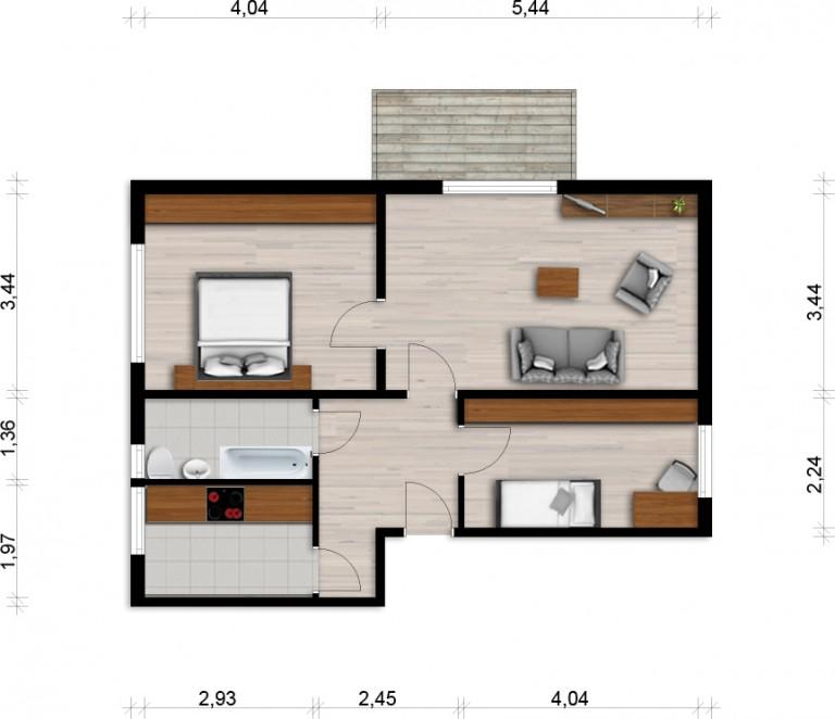 Vorschaubild für Wohnung:  L.-v.-Beethoven-Str. 21 (Hoyerswerda) 1
