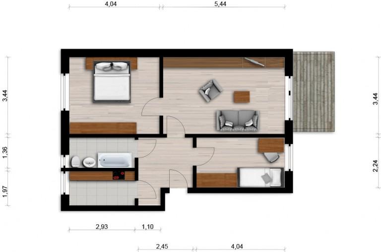 Vorschaubild für Wohnung:  Hufelandstr. 19 (Hoyerswerda) 1