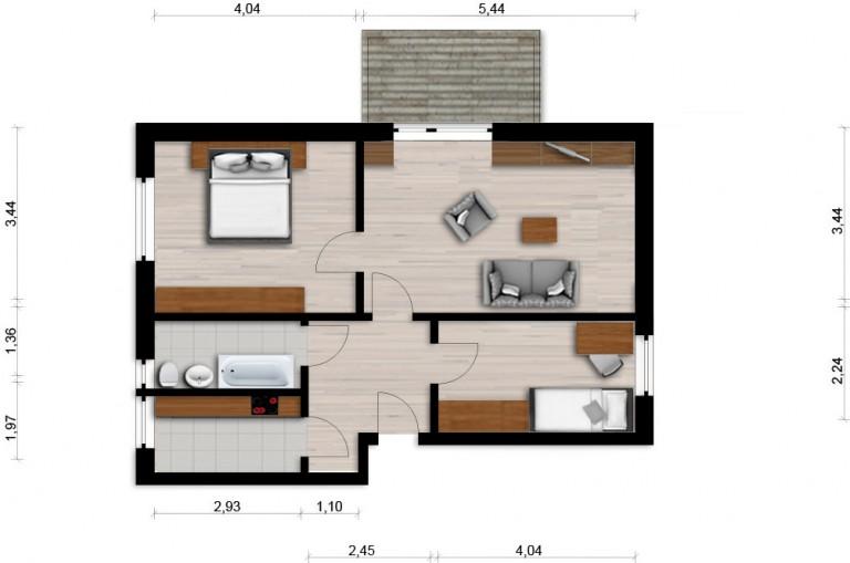 Vorschaubild für Wohnung:  Semmelweisstr. 22 (Hoyerswerda) 1