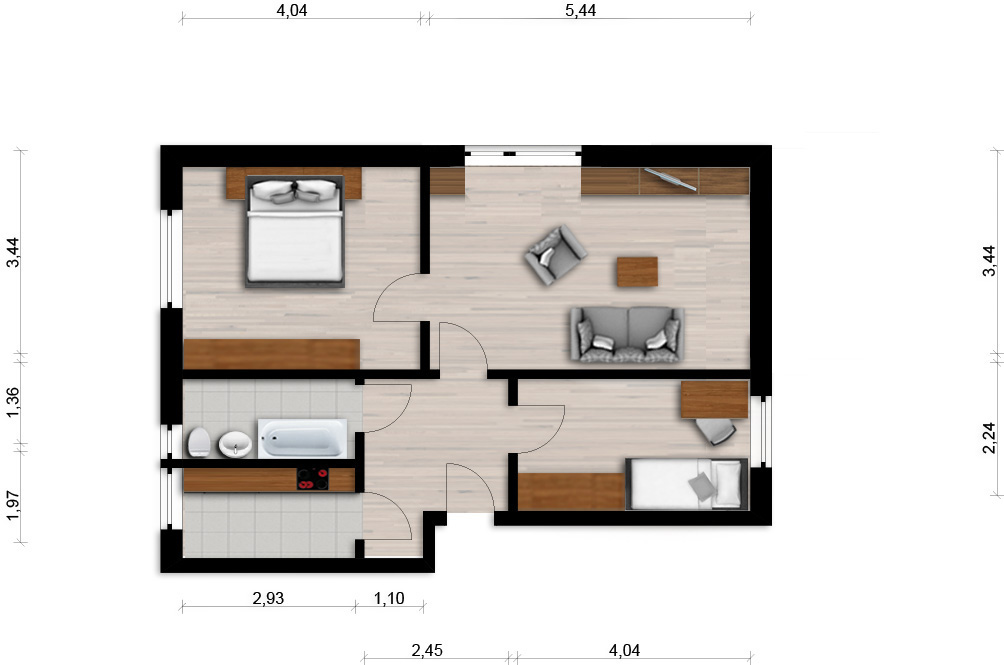 Vorschaubild für Wohnung:  Semmelweisstr. 1 (Hoyerswerda) 1