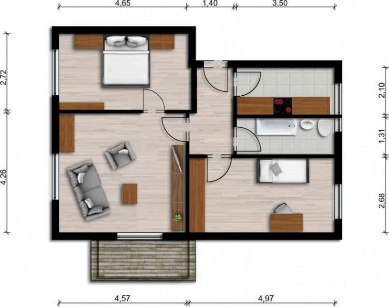 Vorschaubild für Wohnung:  Virchowstr. 32 (Hoyerswerda) 1