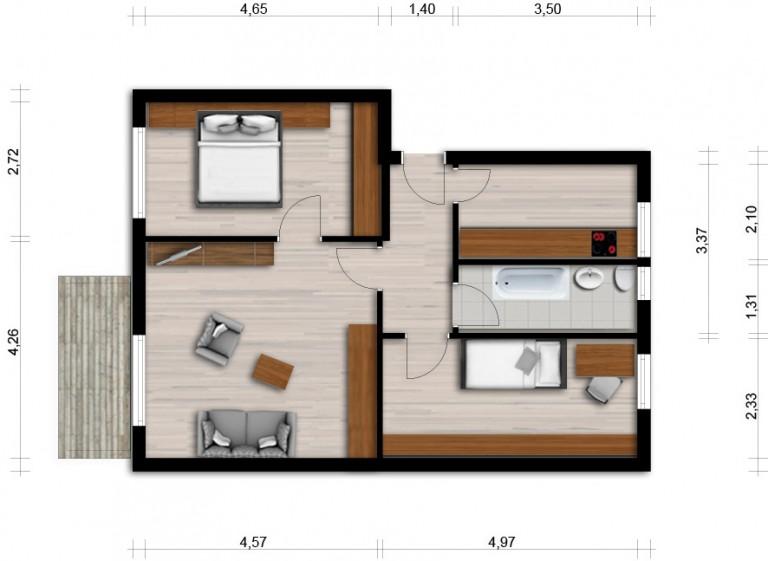 Vorschaubild für Wohnung:  Martin-Luther-Str. 8 (Hoyerswerda) 1