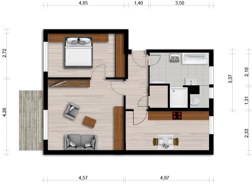 Vorschaubild für Wohnung:  Ziolkowskistr. 3 (Hoyerswerda) 1