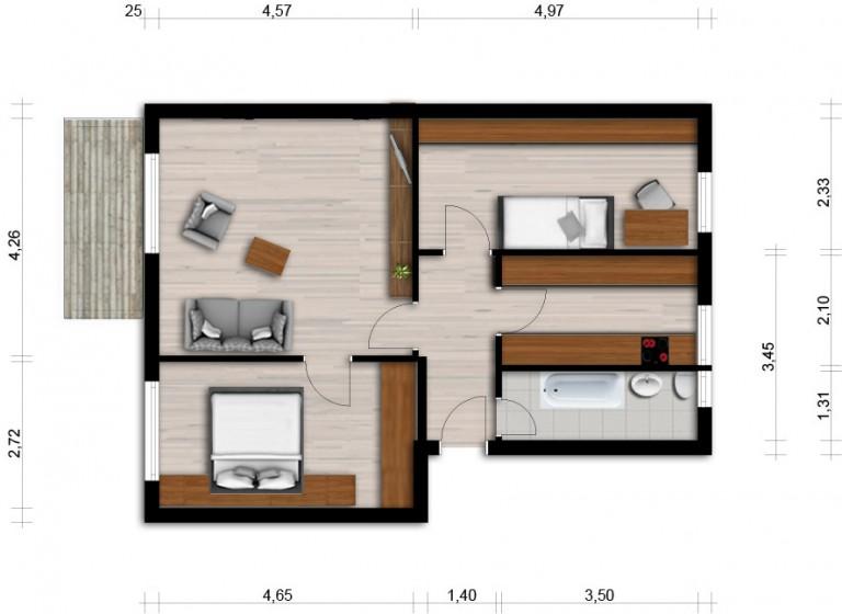 Vorschaubild für Wohnung:  Franz-Liszt-Str. 4 (Hoyerswerda) 1