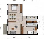 Vorschaubild für Wohnung:  Juri-Gagarin-Str. 8 (Hoyerswerda) 1