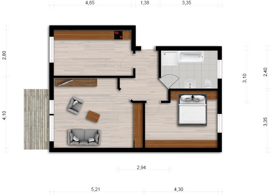 Vorschaubild für Wohnung:  Hufelandstr. 37 (Hoyerswerda) 1