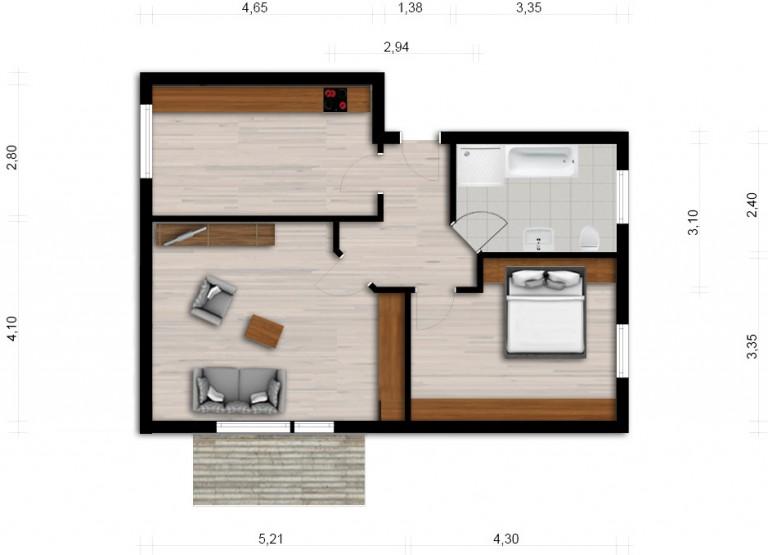 Vorschaubild für Wohnung:  Bautzener Allee 93 (Hoyerswerda) 1