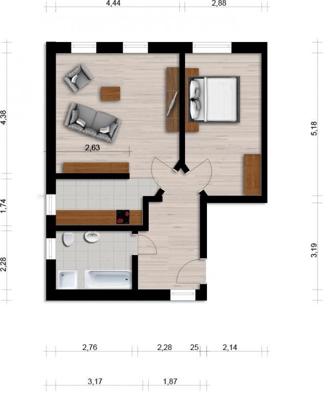 Vorschaubild für Wohnung:  Lessingstraße 19a (Hoyerswerda/OT Knappenrode) 1