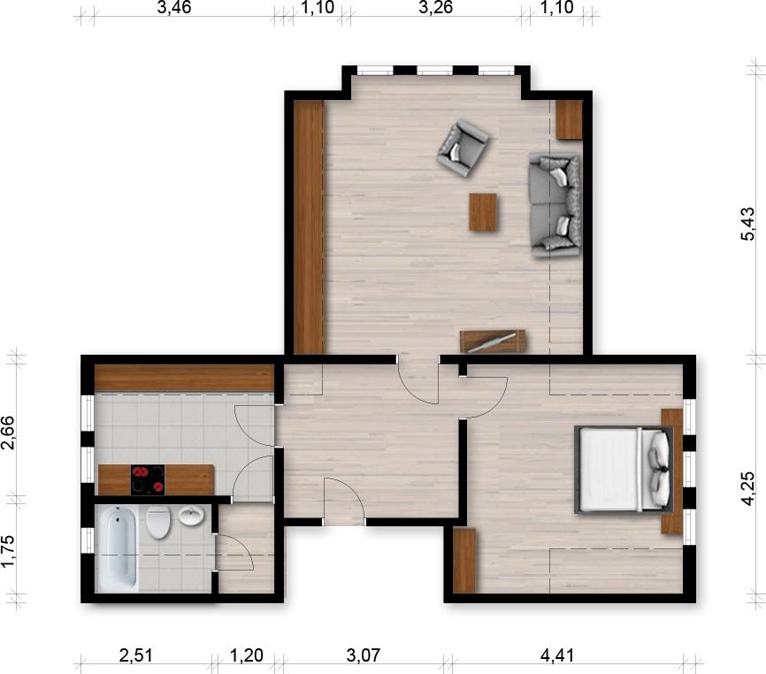 Vorschaubild für Wohnung:  Lessingstraße 10 (Hoyerswerda/OT Knappenrode) 1