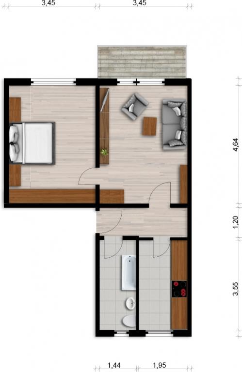 Vorschaubild für Wohnung:  Einstein-Str. 54 (Lauta) 1
