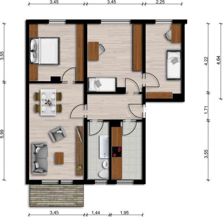 Vorschaubild für Wohnung:  Einstein-Str. 45 (Lauta) 1