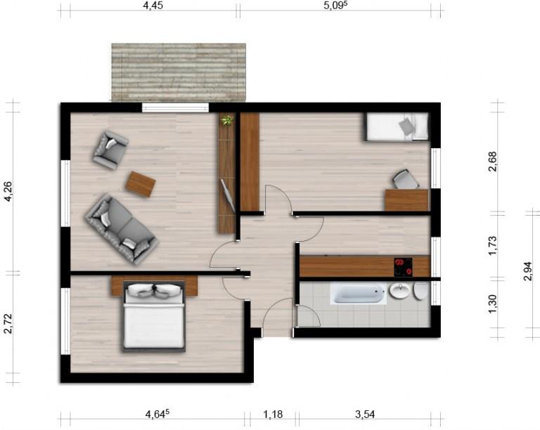 Vorschaubild für Wohnung:  Scadoer Str. 37 (Hoyerswerda) 1
