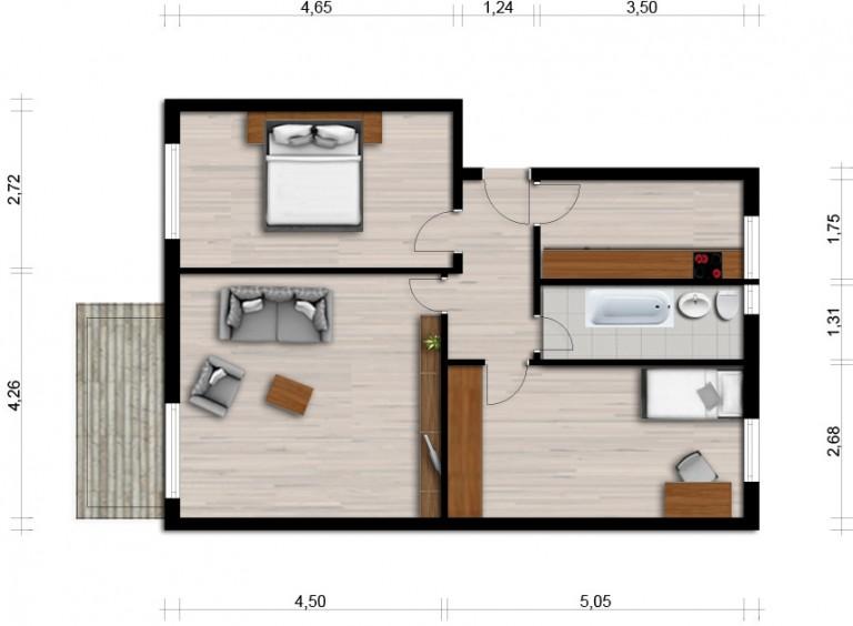 Vorschaubild für Wohnung:  Claus-v.-Stauffenberg-Str. 12 (Hoyerswerda) 1