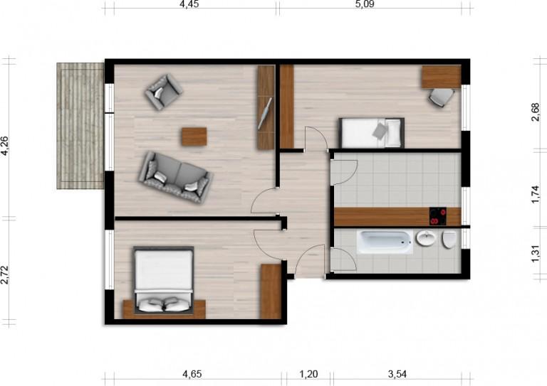Vorschaubild für Wohnung:  Claus-v.-Stauffenberg-Str. 14 (Hoyerswerda) 1