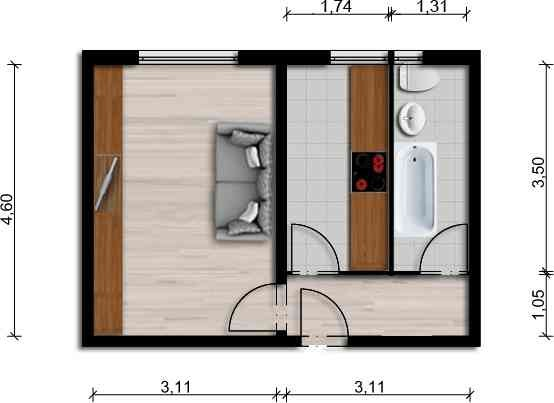 Vorschaubild für Wohnung:  Albert-Schweitzer-Str. 6 (Hoyerswerda) 1