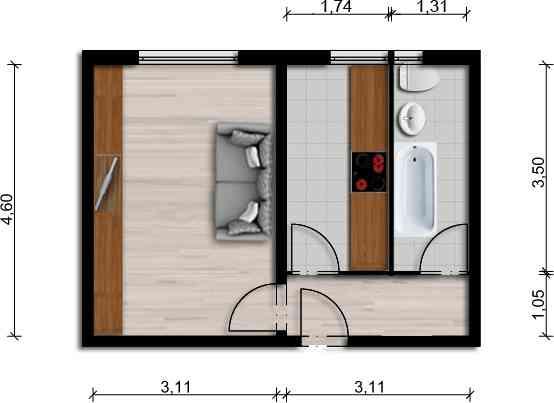 Vorschaubild für Wohnung:  Schöpsdorfer Str. 1 (Hoyerswerda) 1