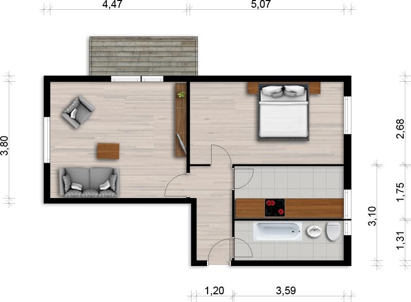 Vorschaubild für Wohnung:  Friedrich-Löffler-Str. 16 (Hoyerswerda) 1
