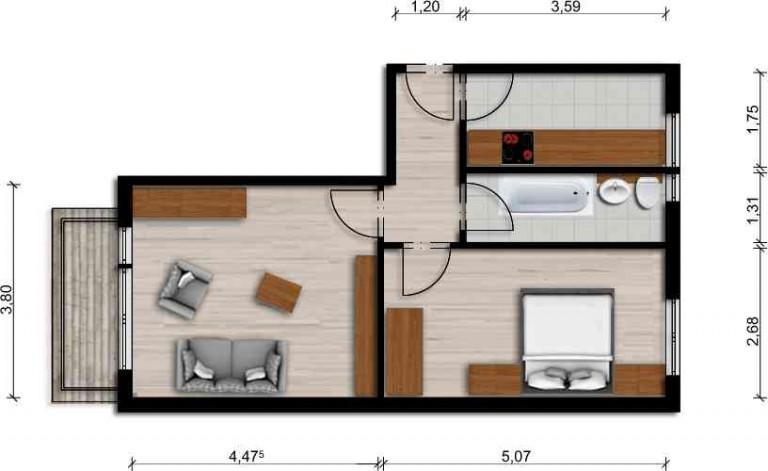 Vorschaubild für Wohnung:  Schöpsdorfer Str. 6 (Hoyerswerda) 1
