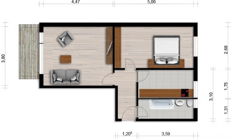 Vorschaubild für Wohnung:  Albert-Schweitzer-Str. 8 (Hoyerswerda) 1