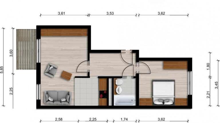 Vorschaubild für Wohnung:  Collinsstraße 32 (Hoyerswerda) 1