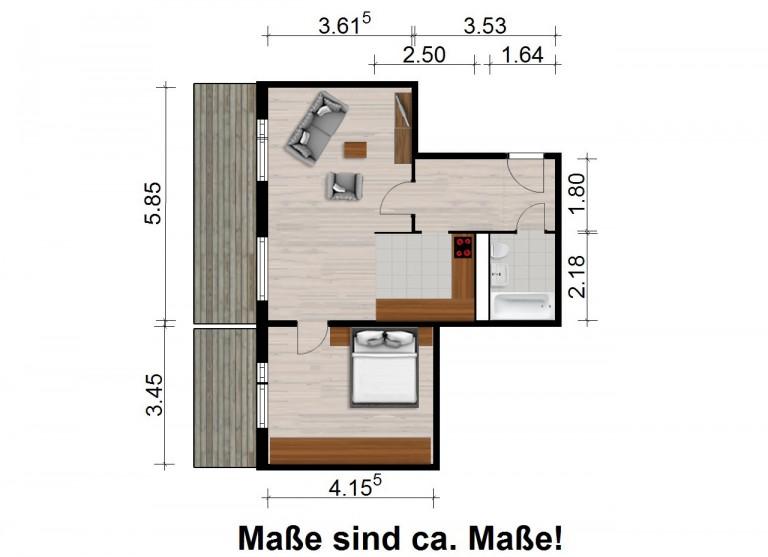 Vorschaubild für Wohnung:  Ratzener Str. 54 (Hoyerswerda) 1