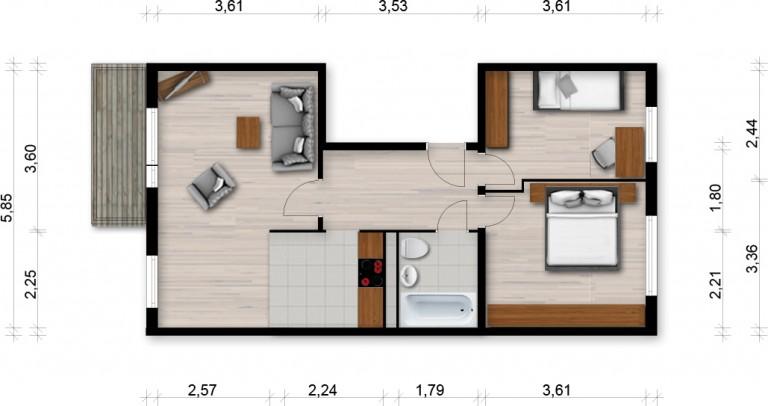 Vorschaubild für Wohnung:  Ratzener Str. 40 (Hoyerswerda) 1