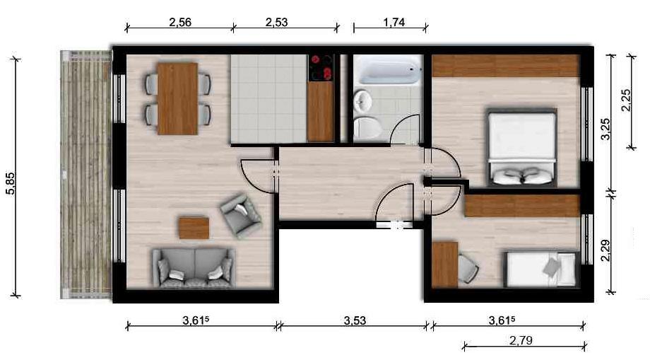 Vorschaubild für Wohnung:  Neidhardt-von-Gneisenau-Str. 57 (Hoyerswerda) 1