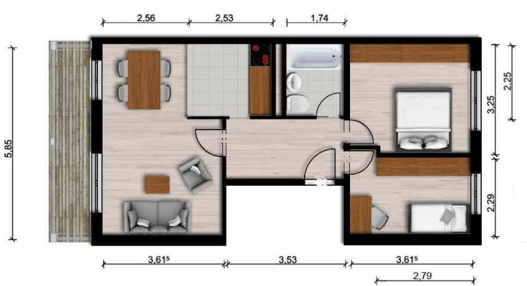 Vorschaubild für Wohnung:  Neidhard-von-Gneisenau-Str. 59 (Hoyerswerda) 1