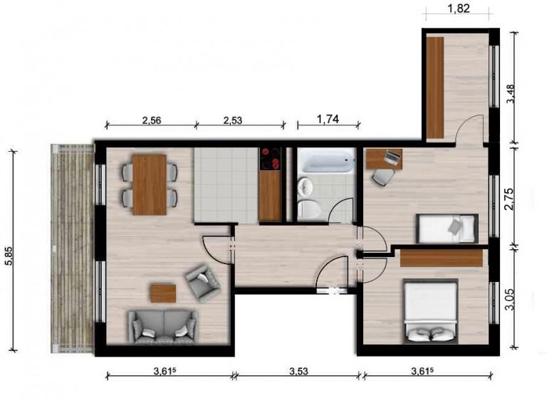 Vorschaubild für Wohnung:  Albert-Schweitzer-Str. 32 (Hoyerswerda) 1