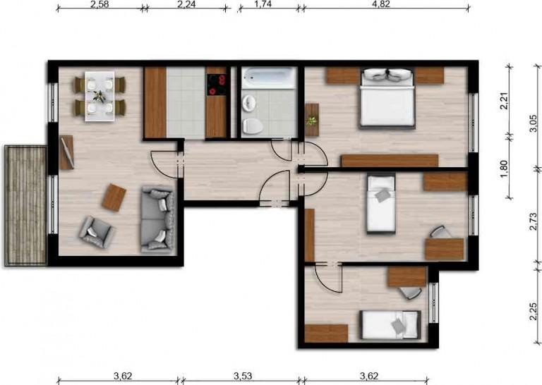 Vorschaubild für Wohnung:  Ferdinand-von-Schill-Str. 17 (Hoyerswerda) 1