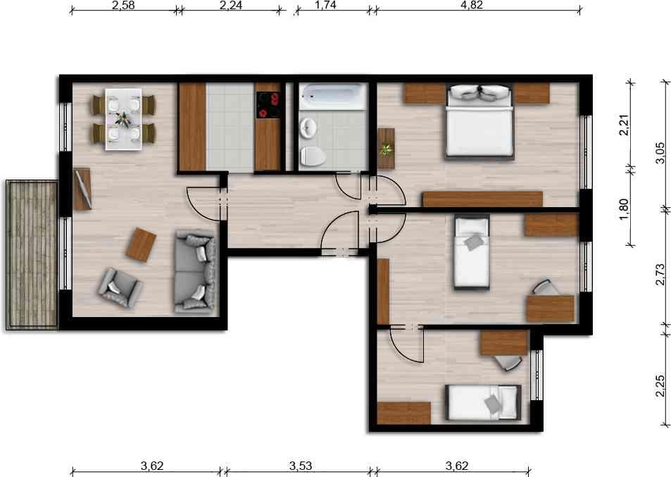 Vorschaubild für Wohnung:  Ferdinand-von-Schill-Str. 9 (Hoyerswerda) 1