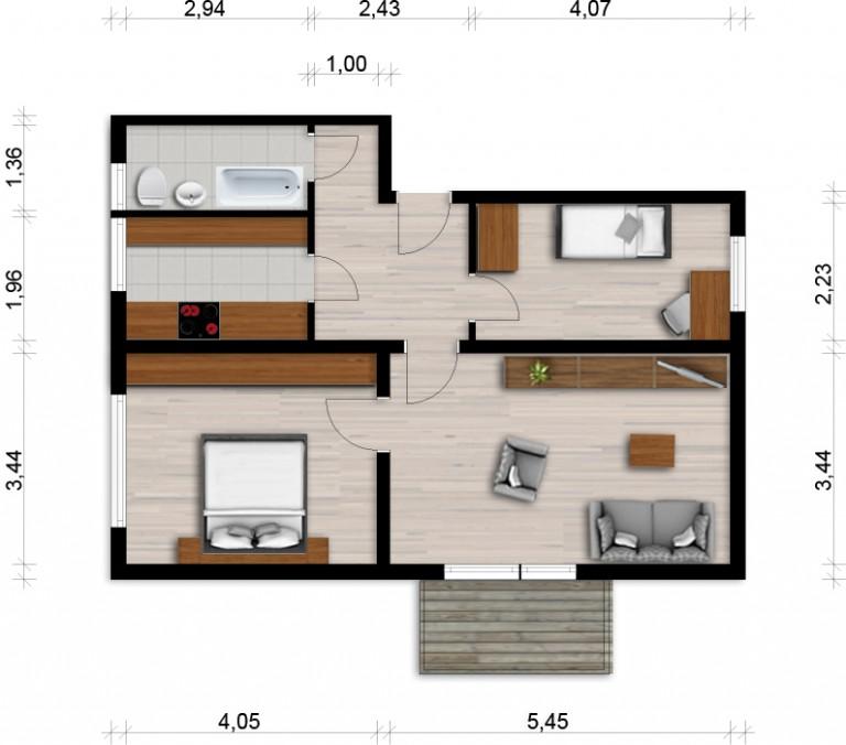 Vorschaubild für Wohnung:  Curiestr. 27 (Hoyerswerda) 1