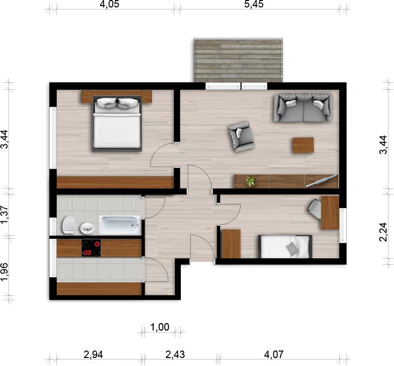 Vorschaubild für Wohnung:  Curiestr. 31 (Hoyerswerda) 1