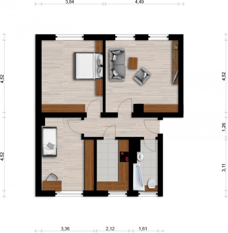 Vorschaubild für Wohnung:  Bachstr. 3 (Lauta) 1